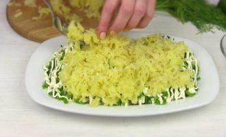 Селедка под зеленой шубой с сыром и без свеклы