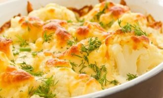 Рецепт низкокалорийной запеканки из цветной капусты и брокколи