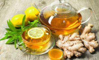 Имбирный чай с медом и лимоном