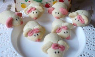 Новогоднее печенье «Мышата»