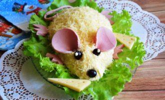 Слоеный салат с грудками на Новый Год Крысы