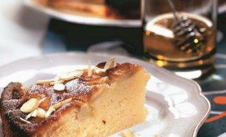 Поместить в духовку и выпекать до готовности. Остывший пирог украсить сахарной пудрой.