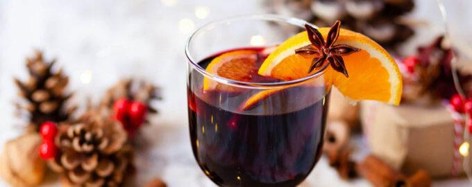 Новогодний глинтвейн со специями и джином