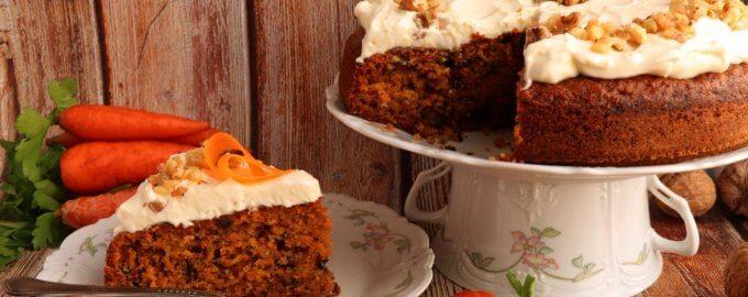 Морковный кекс с грецкими орехами и корицей