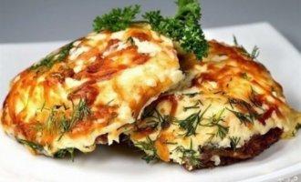 Мясо по-французски с картофелем, грибами