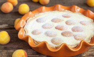 Творожный тарт с абрикосами