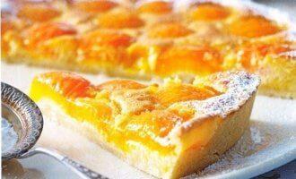 Рецепт творожного пирога с абрикосами
