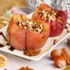 Яблоки печеные с грецкими орехами и медом