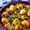 Хрустящая картошка, запеченная с грибами