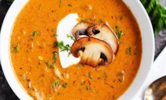 Венгерский суп из лесных грибов