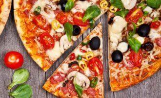 Веганская пицца с шампиньонами