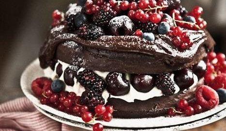 Рецепт торта Шварцвальд со свежей вишней
