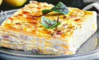 Картофель с сыром и беконом в духовке