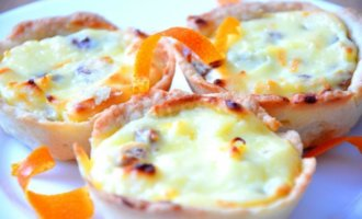 Корзиночки с сырной начинкой