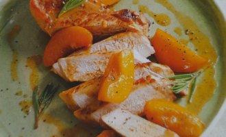 Свиные отбивные с персиками