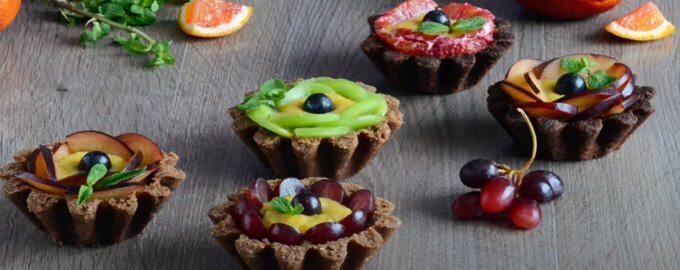 Песочные корзиночки с фруктовым желе