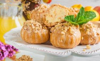 Пирожное «Орешек» из заварного теста по ГОСТу