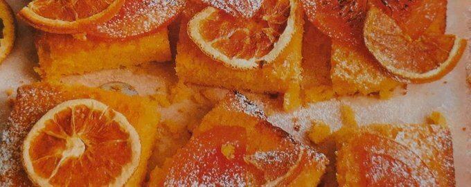 Грейпфрутовый пирог с полентой