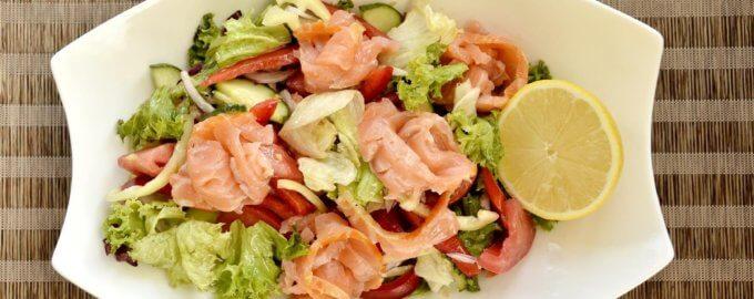 Кобб-салат с лосесем